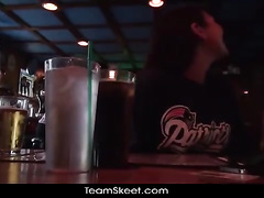 Sweetie meets her fucker at the pub and gets seduced