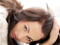 Awesome brunette enjoys hot masturbation pleasure