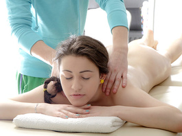 Handsome chick got pleasantly pounded by sexy young massagist