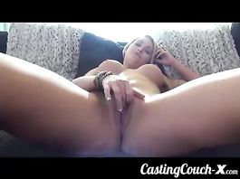 Shaved girl pussy masturbation and fuck