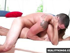 Exciting hot Latina chick Austin Cole Sarai sucks dick and fucks hard