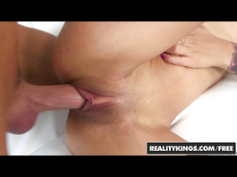 Naughty young blonde Ivy Stone shows her pussy and sucks dick before fucking
