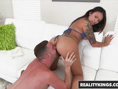 Hot boobed Natalia Mendez does awesome blowjob and enjoys hardcore fuck