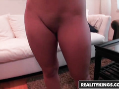 Brown haired babe Rachel Raven is doing blowjob and fucking hard with stranger
