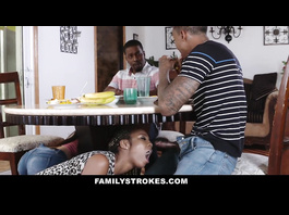 Black brothers are fucking their stepsisters and enjoying family foursome