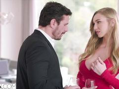 Gorgeous blonde Kendra Sunderland loves hardcore sex with her boss in the office