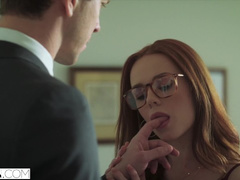 Ginger Ella Hughes enjoys fucking with handsome rich dude