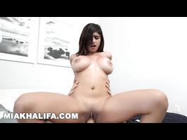 Juicy big boobed Muslim girl Mia Khalifa rides big dick in reverse cowgirl pose