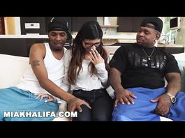 Two black fuckers got satisfied by sexy Muslim porn star Mia Khalifa