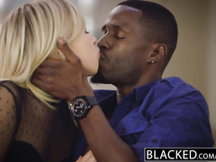 Hot blonde girlfriends Elsa Jean and Zoey Monroe are loving interracial foursome