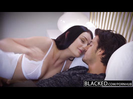 Hot and sexy Amanda Lane deepthroats big black cock and enjoys interracial fuck