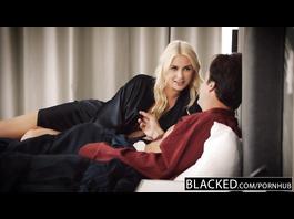 Luxurious blonde milf Gigi Allens enjoys interracial fuck with security guy