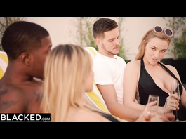 Burning sexy Kendra Sunderland and her boyfriend are having interracial foursome