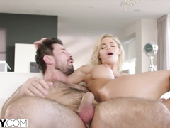 Rich blonde house wife Jessa Rhodes just loved passinate and pleasant anal fuck with driver
