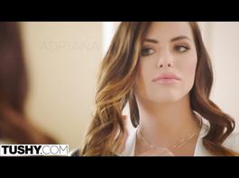 Amazingly hot Riley Reid and Adriana Chechik love rough anal threesome