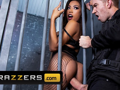 Burning hot brunette prisoner Polly Pons enjoys being fucked hard by guardian